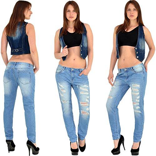 Femme Jean femmes Jean baggy jean jean pantalons femmes Jean S700 Z144 femme Boyfriend bleu Dchirs rIEwIvq