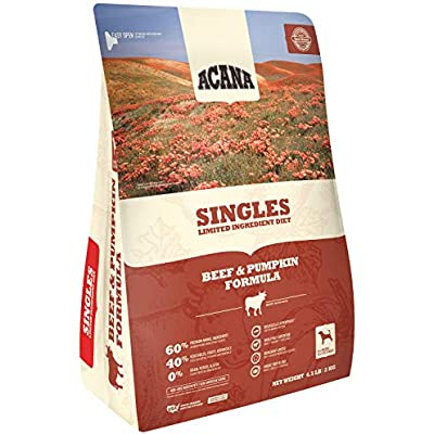 ACANA Singles Beef and Pumpkin Formula Dry Dog Food 4.5 Pounds