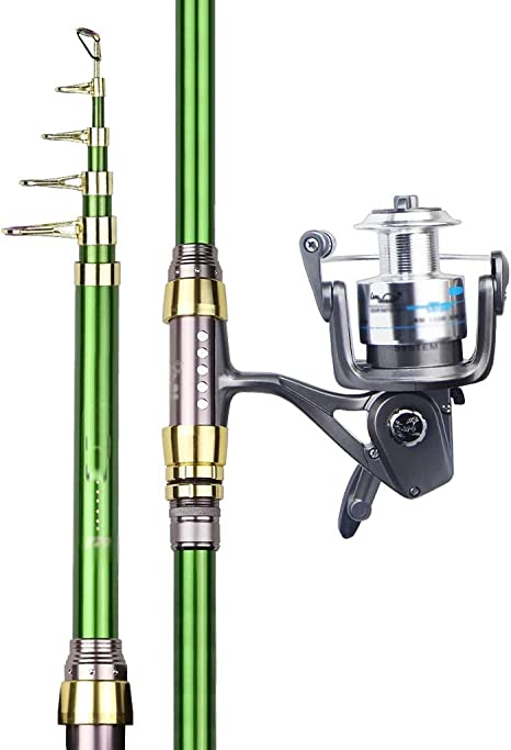 DUOER home 2.1m-3.6m Multifunción Spinning Rod Carbono de Pesca ...