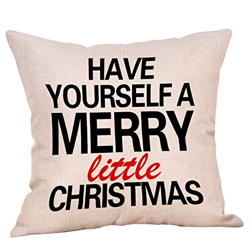 Softxpp Have Yourself a Merry Little Christmas Throw Pillow Cover Vintage Farmhouse Style Winter Holiday Decor Cushion Case Decorative for Sofa Couch 18