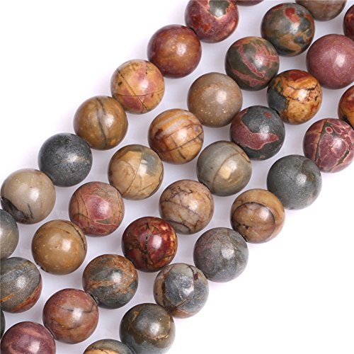 8mm Picasso Jasper Beads for Jewelry Making Natural Semi Precious Gemstone Round Strand 15