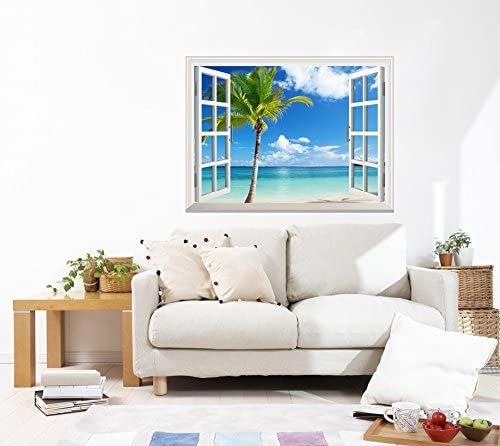Stickers Wall Deco Palm Trees Sunset Sun 1210