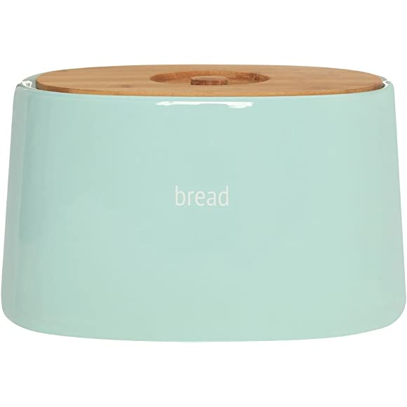 Prime Furnishings Baby Blue Ceramic Bread Bin