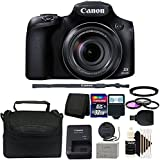 Canon PowerShot SX60 HS 16.1 Mp 65x Optical Zoom Digital Camera + 32GB Memory Card + 67mm Filter Kit + Filter Adapter + Wallet + Reader + Slave Flash + Camera Case + 5pc Cleaning Kit