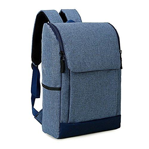 Hombres y Mujeres Multifunción Viaje Bolsa de Ordenador Portátil Mochila de Escuela Estudiante con Entrepiso Especializada ajuste Portátil de 15.6 pulgadas Azul
