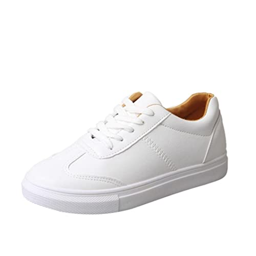 Women's Spring Leisure Flat White Shoes Casual Travel Shoes by TOPUNDER