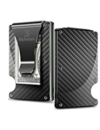Belletek Carbon Fiber RFID Wallet/RFID Blocking Money Clip -Slim Wallet for Man