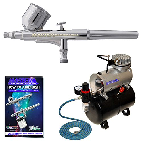 Master Performance G22 Airbrushing System Kit with Master TC-20T Compressor with Air Tank, Air Hose & G22 Dual-Action Gravity Feed Airbrush by Master Airbrush