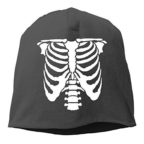 YUVIA Halloween Skeleton Men's&Women's Patch Beanie Mountain ClimbingBlack Caps Hats For Autumn And Winter