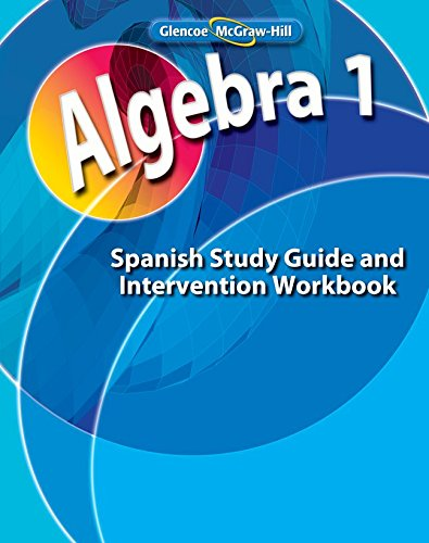 Descargar Libro Algebra 1, Spanish Study Guide And Intervention Workbook Mcgraw-hill