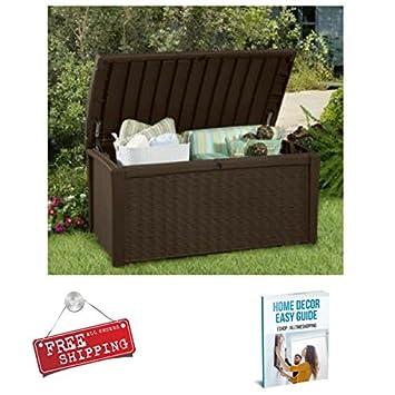 Deck Storage Box Waterproof Plastic Outdoor Patio Garden Container Unit Box  Large U0026 EBook By AllTim3Shopping