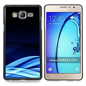 Blue Lines Waves Abstract Cold Caja protectora de pl??stico duro Dise?¡Àado King Case For Samsung Galaxy On7 G6000