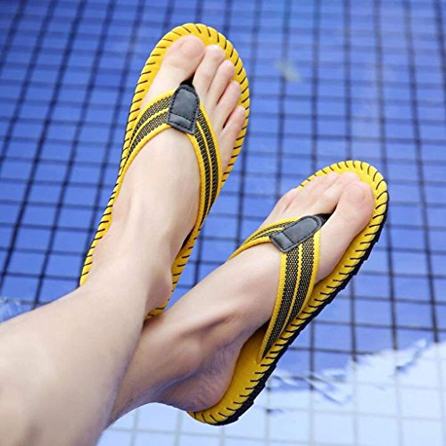 Verano Sandalias los Corea de de Ocasionales arrastrando de Clips Hombres Baño Hombres Antideslizantes Zapatillas los Amarillo de Trend de Zapatillas Chanclas Beach awqAYA