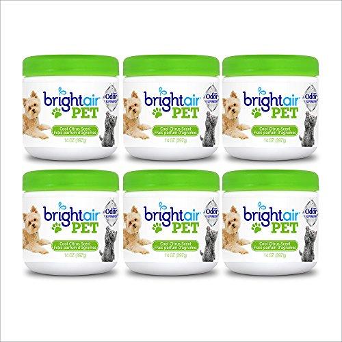 Bright Air Solid Pet Odor Eliminator, Cool Citrus Scent, 14 Ounces, 6 Pack