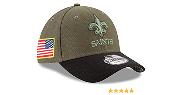 f2391b14a ... shopping amazon new orleans saints new era nfl 39thirty 2017 sideline  salute to service hat sports