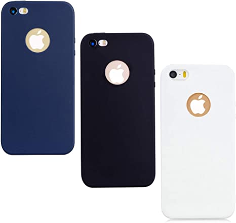 3x Cover iPhone 5S Silicone iPhone SE Custodia Morbido TPU