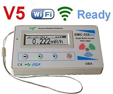 GQ GMC-320 + V5 Digital Contador Geiger WiFi inalámbrico registrador de datos Dosímetro detector de radiación: Amazon.es: Industria, empresas y ciencia