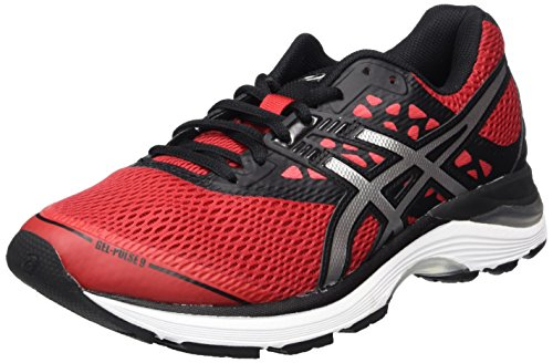 Silver Gel Asics 9 Homme Chaussures de Classic Black 2393 Red Rouge Noir Running Pulse UdqdfRP