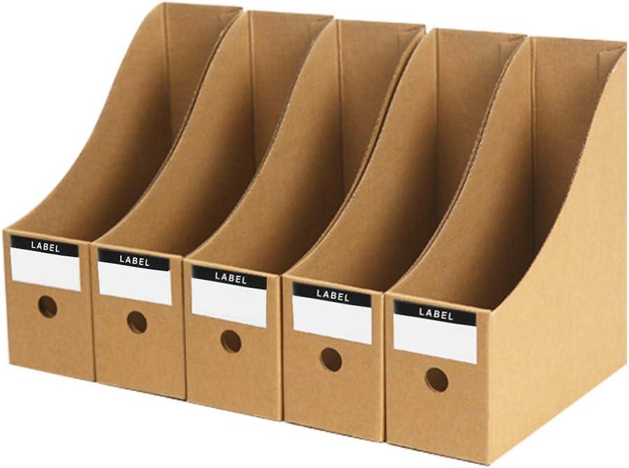 5 revisteros de papel kraft para revistas manualidades caja ...