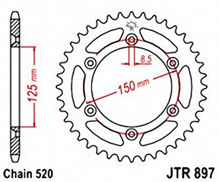 JT Sprockets JTR897.42 42T Steel Rear Sprocket