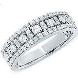 Image of 0.75 Carat (ctw) 14k White Gold Round Diamond Ladies Anniversary Wedding Band Ring 3/4 CT (Size 8)