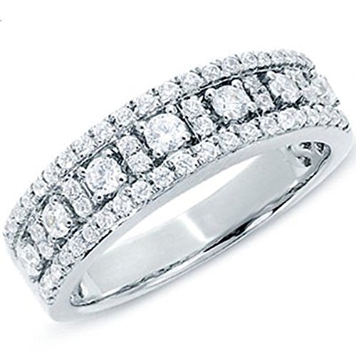 0.75 Ct Yellow Diamond (0.75 Carat (ctw) 14K Yellow Gold Round White Diamond Ladies Wedding Band 3/4 CT (Size 6))