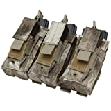 COP-MA55-009-Triple Kangaroo Magazine Pouch holds Pistol Mag - Color: A-TACS