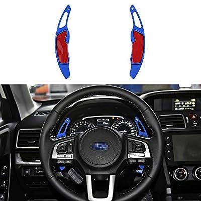 CKE Aluminum Steering Wheel Paddle Shifter Extension For Scion FR-S Subaru Forester Outback XV BRZ WRX Impreza Crosstrek Legacy GT86 - Blue: Automotive