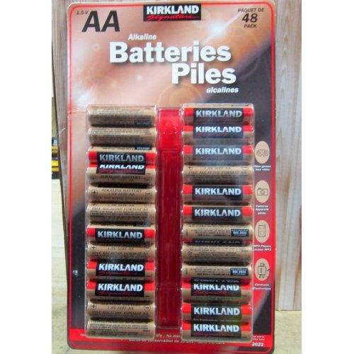 5 Wholesale Lots Kirkland Signature AA Alkaline Batteries, 240 Batteries Total