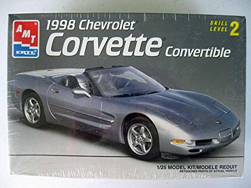 Price comparison product image AMT 8329 1998 Chevrolet Corvette Convertible 1:25 Scale Plastic Model Kit - Requires Assembly
