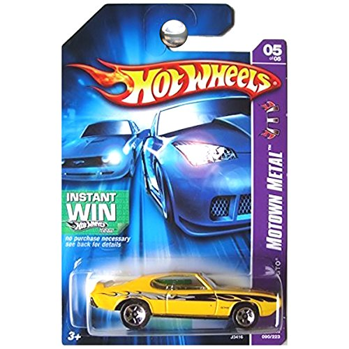 HOT WHEELS INSTANT WIN MOTOWN METAL YELLOW '69 PONTIAC GTO 5/5