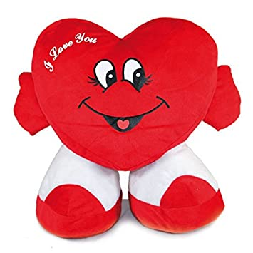 "Corazón grande de peluche, con pies. ""I love you"". 63"