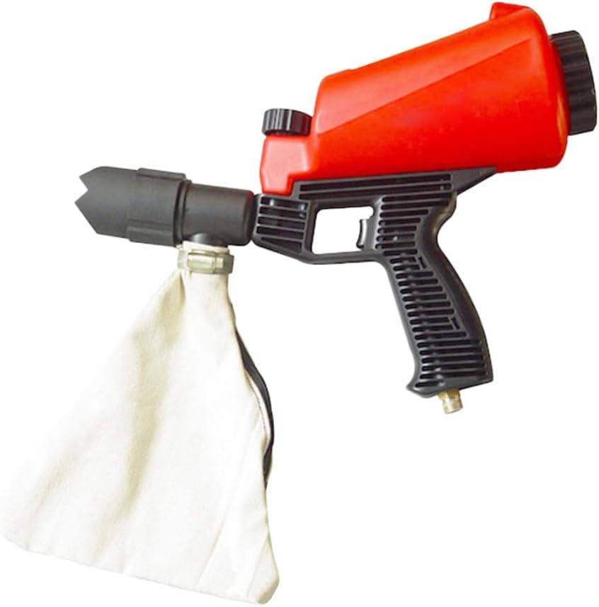 Pistola de arena neumática ASWT-, pistola de arena de aire comprimido de 3 ~ 5 bar, pistola de chorro de arena de capacidad 0,9 L, pistola de arena portátil de protección antioxidante