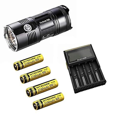 Nitecore TM06 Luz LED 3800 lúmenes, 4 ledes CREE XM-L2 U2 ...