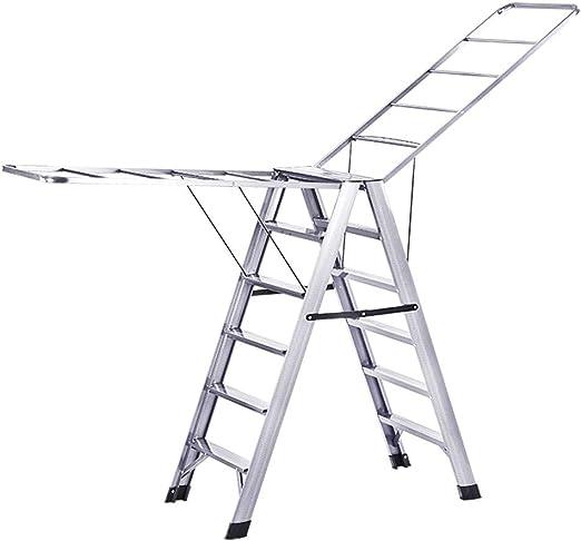 ZXW Tendedero- Escalera de Rejilla de Secado de Aluminio de Doble Uso para Uso Interior y Exterior multifunción (Color : La Plata, Tamaño : 50x110cm): Amazon.es: Hogar
