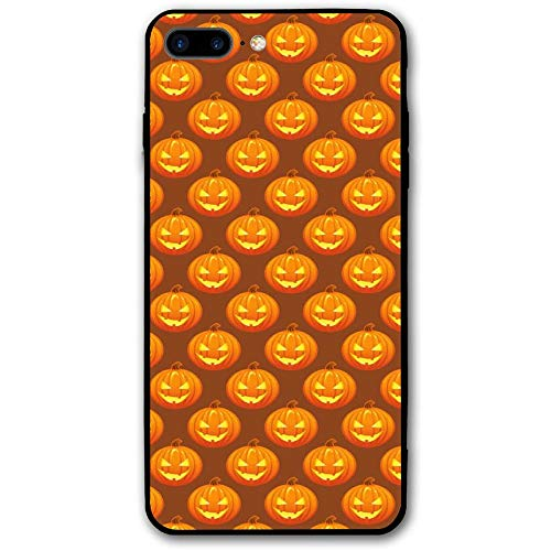 (WIALFIG Free Halloween Pumpkins Pattern iPhone 8 Plus Case Durable Protective Back Phone Hybrid Drop Proof Shock Absorption Cover)