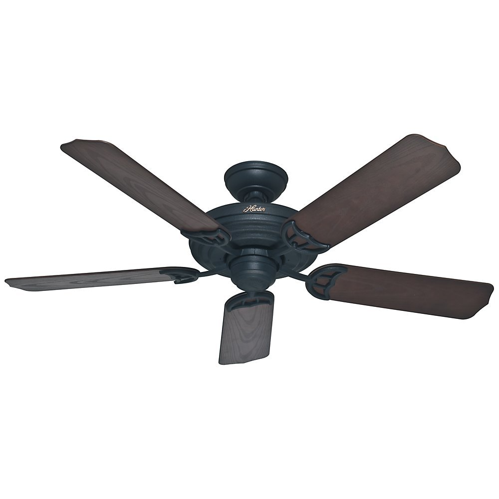 Amazon hunter 53060 sea air 52 ceiling fan textured matte amazon hunter 53060 sea air 52 ceiling fan textured matte black home kitchen mozeypictures Choice Image