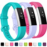 GEAK for Fitbit Alta HR Bands,Replacement Bands for Alta,3Pack,Lilac Teal and Rose,Small