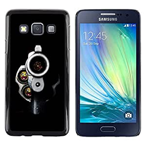 LECELL -- Funda protectora / Cubierta / Piel For Samsung Galaxy A3 SM-A300 -- Smiling Bullets Gun --