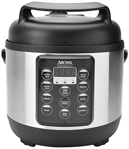 Aroma Housewares APC-816SB Aroma Professional Pressure Cooker, 12-Cup Cooked , Black