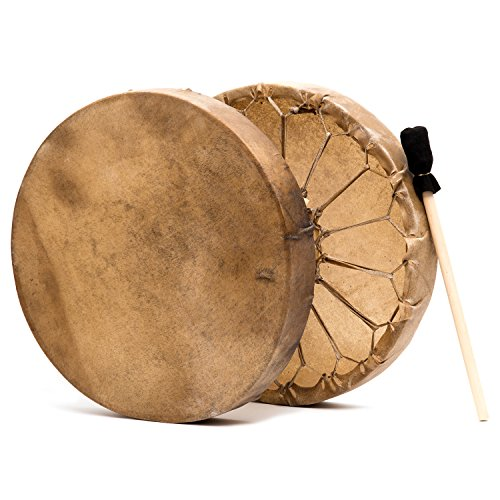 Native American Style 15 in. Elk Hide Frame Hand Drum