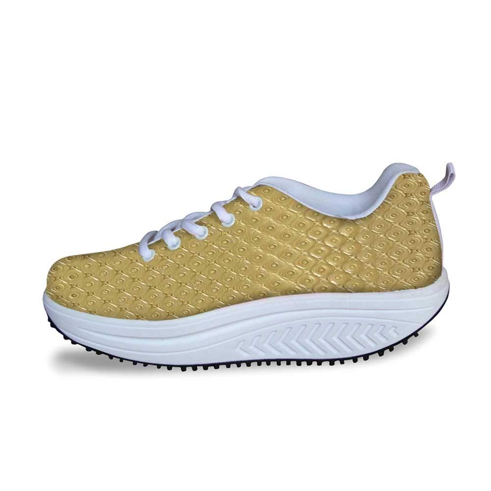 YOLIYANA Toga Party Cool Shake Shoes,Mythological Aphrodite Profile and Olive Branch Greek Borders Framework Print for Women,US Size5