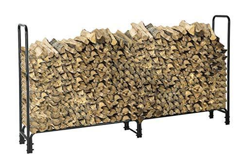 LITHER 8 Feet Heavy Duty Indoor/Outdoor Firewood Racks Anti-Corrosive Steel Wood Storage Log ()