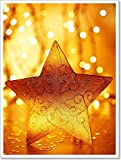 Christmas Tree Star Decoration Paper Print Wall Art (24in. x 18in.)
