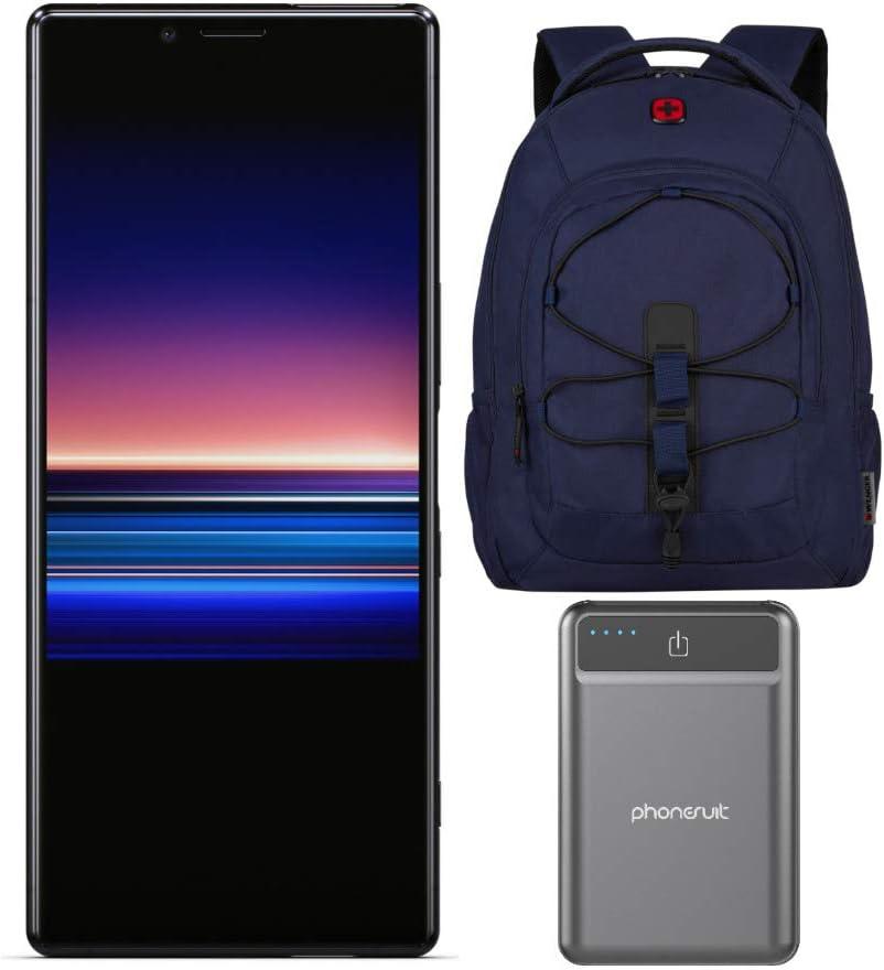 Sony Xperia 1 Smartphone Desbloqueado 6.5 Pulgadas 4K HDR OLED CinemaWide Display, 128 GB – Negro – (garantía de EE. UU.) con 16 Pulgadas Mochila para portátil y Paquete de baterías (3 artículos): Amazon.es: Electrónica