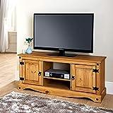 Mews Corona 2 Door Flat Screen TV Unit in Solid Pine
