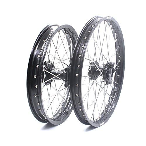 KKE HONDA MX CNC Wheel 21/19 CRF450R 02-12 CRF250R 04-13 Black Hub by KKE (Image #2)