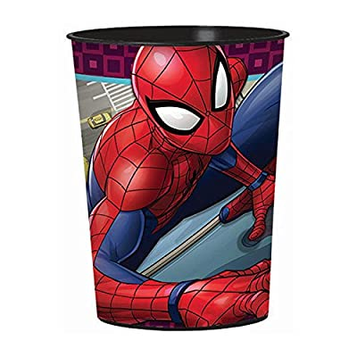 Marvels Spiderman Reusable Cups (12x) ~ Birthday Party Supplies Plastic Favors: Toys & Games