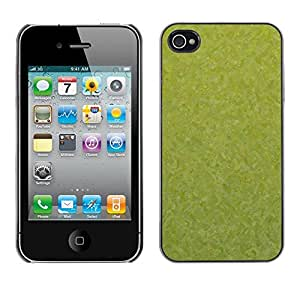 LASTONE PHONE CASE / Carcasa Funda Prima Delgada SLIM Casa Carcasa Funda Case Bandera Cover Armor Shell para Apple Iphone 4 / 4S / Texture Green
