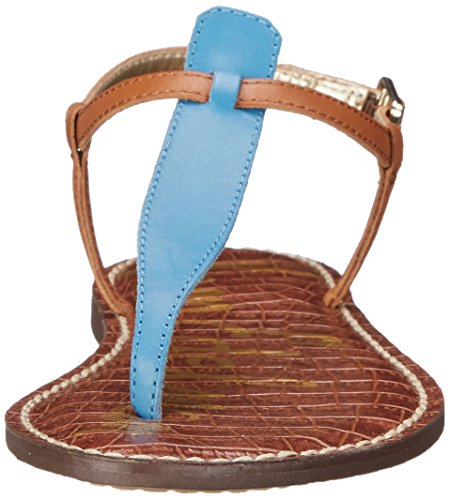 Sam Edleman Gigi - Chanclas para mujer Malibu Blue/Saddle